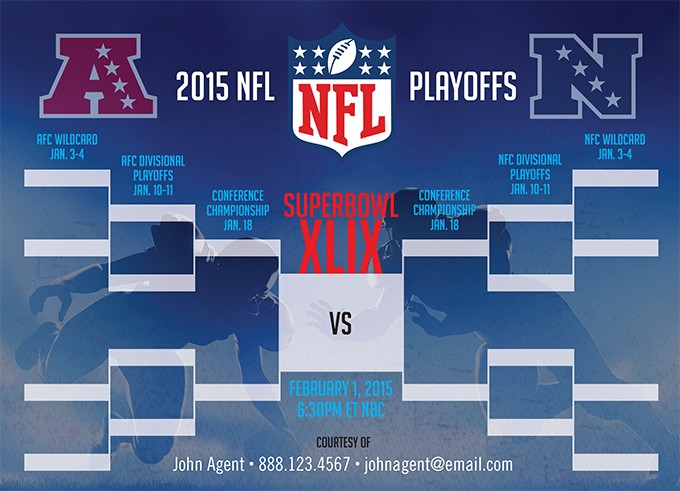 Printable NFL Playoff Schedule for 2016-17 - NFL Playoff